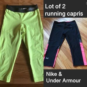 🏃🏽♀️ Lot of 2 running capris Nike Under Armour